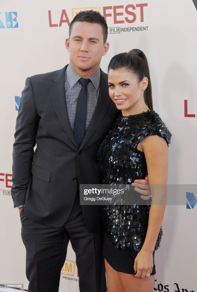 Actors Channing Tatum and Jenna Dewan-Tatum arrive at the 2012 Los Angeles Film Festival closing night gala premiere of 'Magic Mike' at Regal Cinemas L.A. Live on June 24, 2012 in Los Angeles, California.