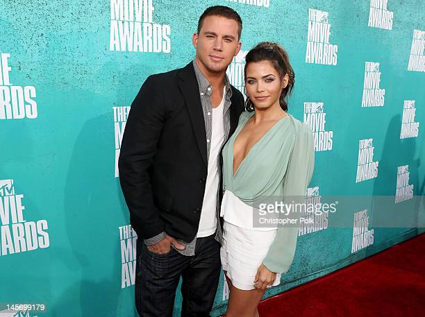 Actors Channing Tatum and Jenna DewanTatum arrive at the 2012 MTV Movie Awards held at Gibson Amphitheatre on June 3 2012 in Universal City California