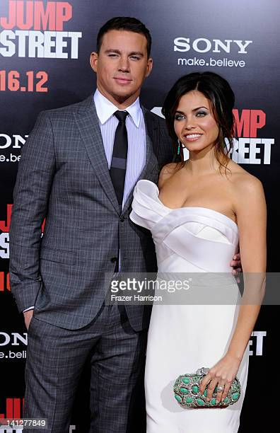 Actors Channing Tatum and Jenna DewanTatum arrive at the Premiere Of Columbia Pictures' '21 Jump Street' at Grauman's Chinese Theatre on March 13...