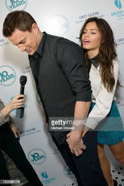 Actors Channing Tatum and Jenna DewanTatum attend '10 Years' New York Brunch Reunion at Hotel Chantelle on September 16 2012 in New York City