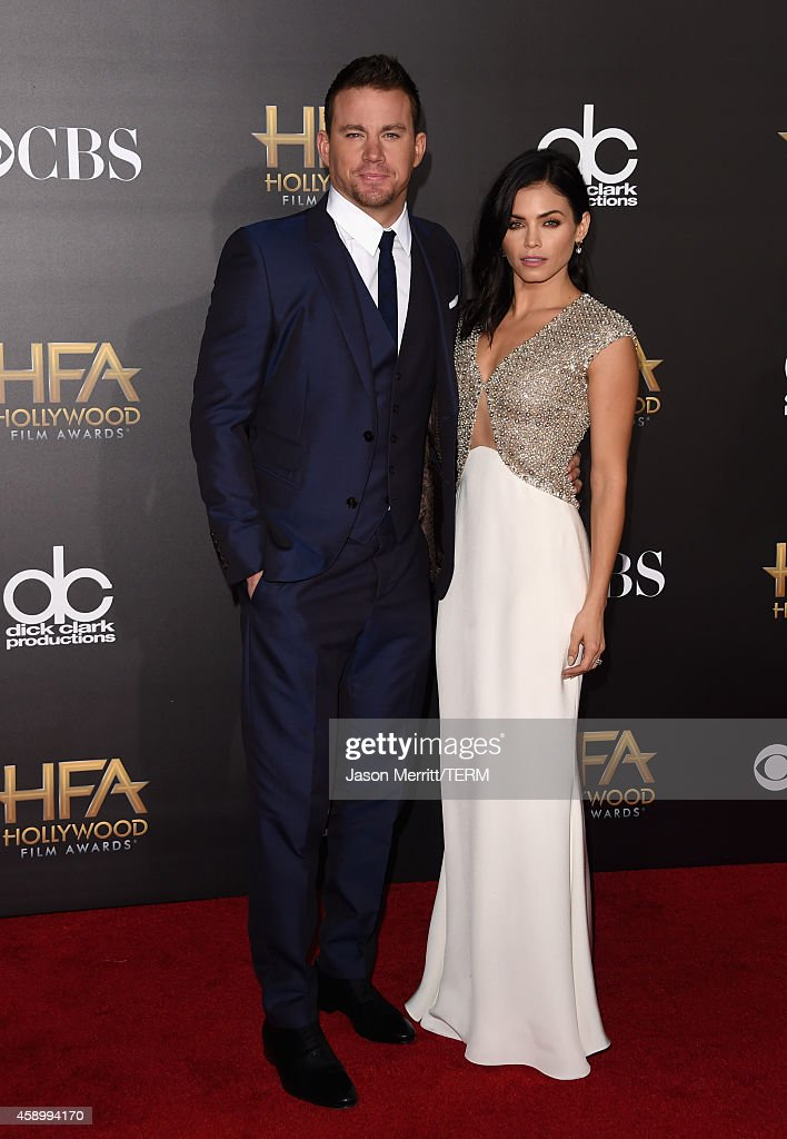 Actors Channing Tatum (L) and Jenna Dewan-Tatum attend the 18th Annual Hollywood Film Awards at The Palladium on November 14, 2014 in Hollywood, California.