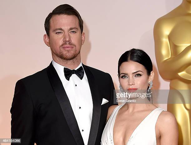 Actors Channing Tatum and Jenna Dewan-Tatum attend the 87th Annual Academy Awards at Hollywood & Highland Center on February 22, 2015 in Hollywood,...