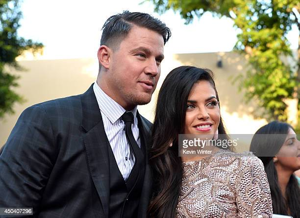 Actors Channing Tatum and Jenna DewanTatum attend the Premiere Of Columbia Pictures' 22 Jump Street at Regency Village Theatre on June 10 2014 in...