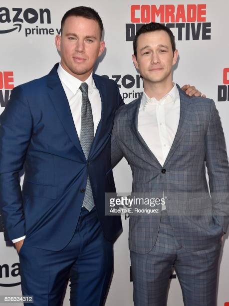"""Actors Channing Tatum and Joseph Gordon Levitt attend the premiere of Amazon's """"Comrade Detective"""" at ArcLight Hollywood on August 3, 2017 in..."""