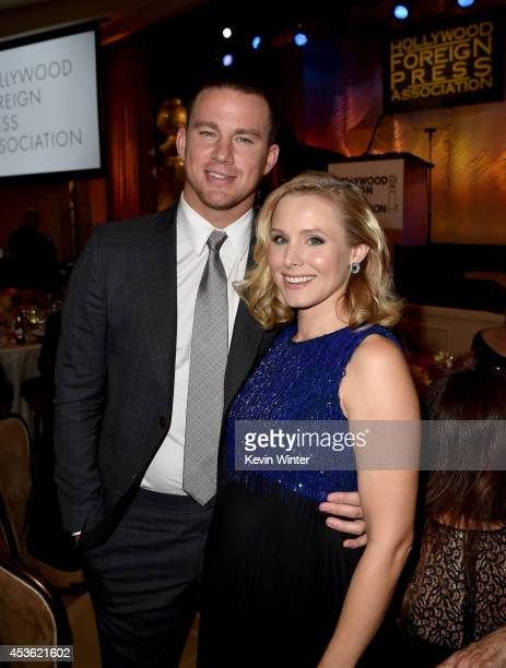 Actors Channing Tatum and Kristen Bell attend the Hollywood Foreign Press Association's Grants Banquet at The Beverly Hilton Hotel on August 14 2014...