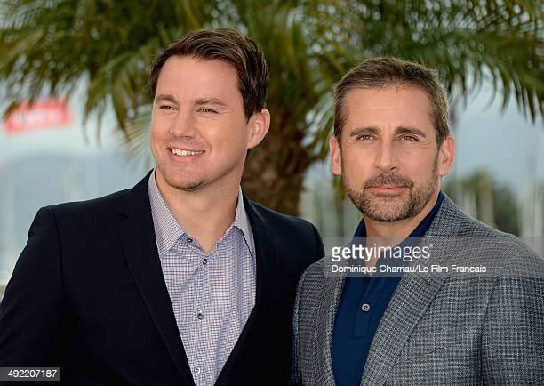 Actors Channing Tatum and Steve Carell attend the 'Foxcatcher' photocall at the 67th Annual Cannes Film Festival on May 19 2014 in Cannes France