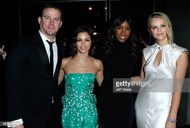 Actors Channing Tatum Jenna Dewan Tatum recording artist Kelly Rowland and B2B CoPresident Kelly Sawyer Patricof attend the 2015 Baby2Baby Gala...