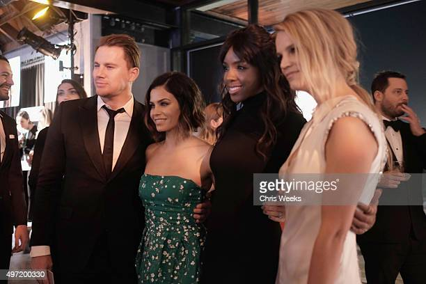 Actors Channing Tatum Jenna Dewan Tatum recording artist Kelly Rowland and B2B CoPresident Kelly Sawyer Patricof attend the 2015 Baby2Baby Gala...