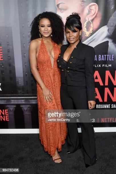 Actors Chante Adams and Nia Long attend a special screening of the Netflix film Roxanne Roxanne at the SVA Theater on March 19 2018 in New York City