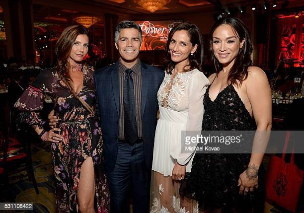 Actors Charisma Carpenter Esai Morales Leonor Varela and Mayte Garcia attends the AltaMed Power Up We Are The Future Gala at the Beverly Wilshire...