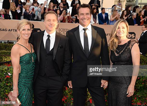 Actors Charissa Barton Alan Tudyk David James Elliot and Nanci Chambers attend the 22nd Annual Screen Actors Guild Awards at The Shrine Auditorium on...
