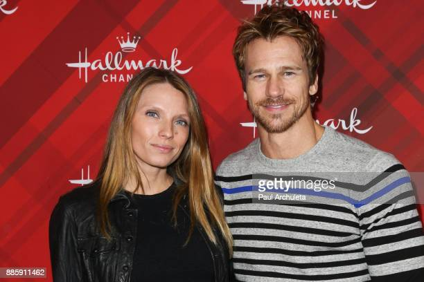 Actors Charity Walden and Rusty Joiner attend the Hallmark Channel's Countdown To Christmas Celebration and VIP screening of Christmas At Holly Lodge...