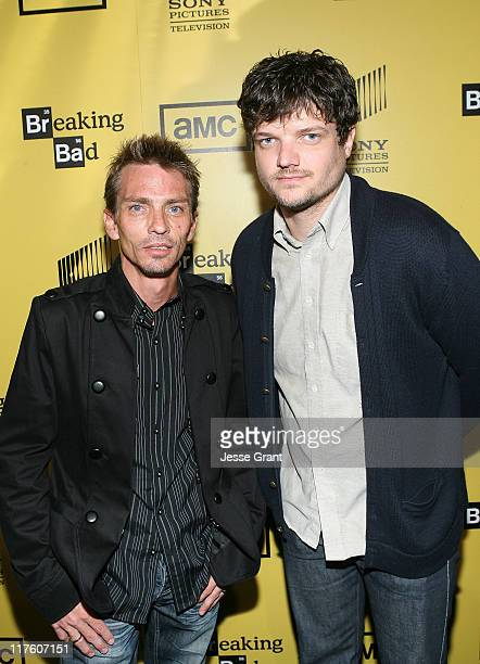 Actors Charles Baker and Matt L Jones attend AMC's Breaking Bad Season 4 Premiere at The Chinese 6 Theatres on June 28 2011 in Los Angeles California