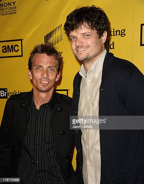 Actors Charles Baker and Matt L Jones attend the premiere of AMC's Breaking Bad at Mann's 6 Theatre on June 28 2011 in Hollywood California