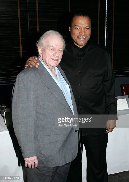 Actors Charles Durning and Billy Dee Williams attend the 2008 Hoboken International Film Festival Press Conference at the Harbor Bar and Brasserie at...