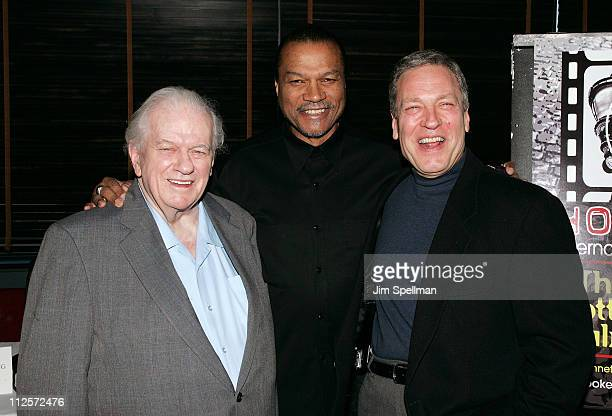 Actors Charles Durning Billy Dee Williams and Anthony Falco attend the 2008 Hoboken International Film Festival Press Conference at the Harbor Bar...