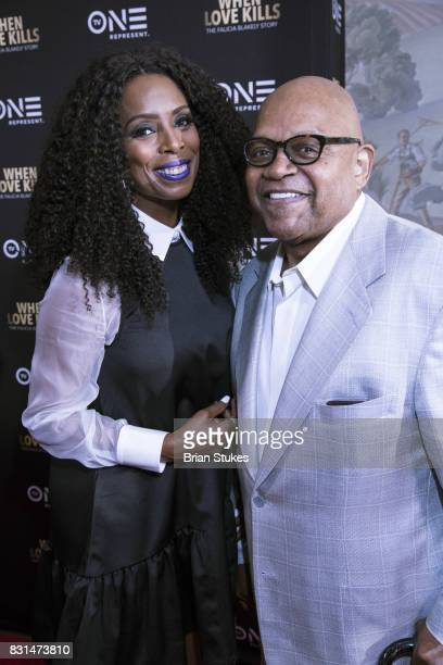Actors Charles Dutton and Tasha Smith attend 'When Love Kills The Falicia Blakely Story' screening at Newton White Mansion on August 14 2017 in...