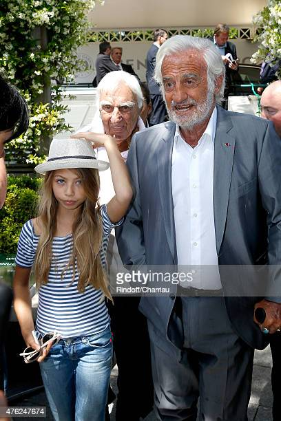Actors Charles Gerard JeanPaul Belmondo and his daughter Stella Belmondo attend the Men Final of 2015 Roland Garros French Tennis Open Day Fithteen...