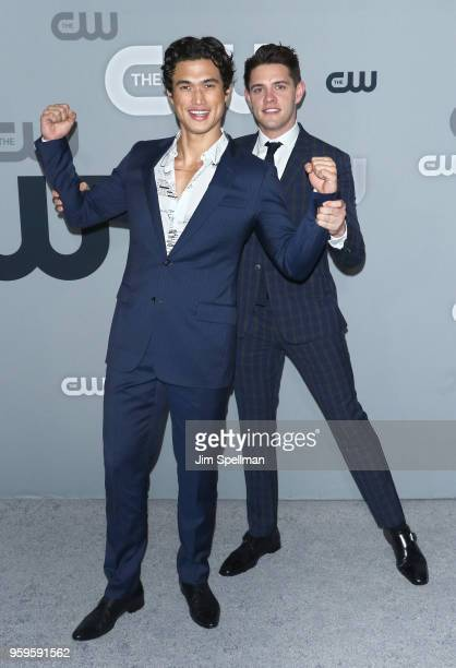 Actors Charles Melton and Casey Cott attend the 2018 CW Network Upfront at The London Hotel on May 17 2018 in New York City