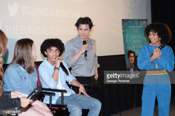Actors Charles Melton and Yara Shahidi pull off the ultimate 'Promposal' at a Toronto screening of 'The Sun Is Also a Star' at Cineplex Cinemas...
