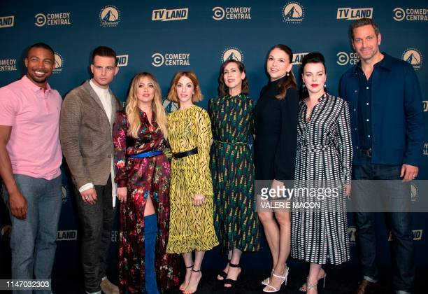 Actors Charles Michael Davis Nico Tortorella Hilary Duff Molly Bernard Miriam Shor Sutton Foster Debi Mazar and Peter Hermann attend the first Comedy...