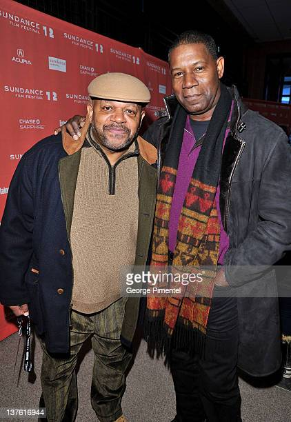 Actors Charles S Dutton and Dennis Haysbert attend the LUV premiere during the 2012 Sundance Film Festival held at Eccles Center Theatre on January...