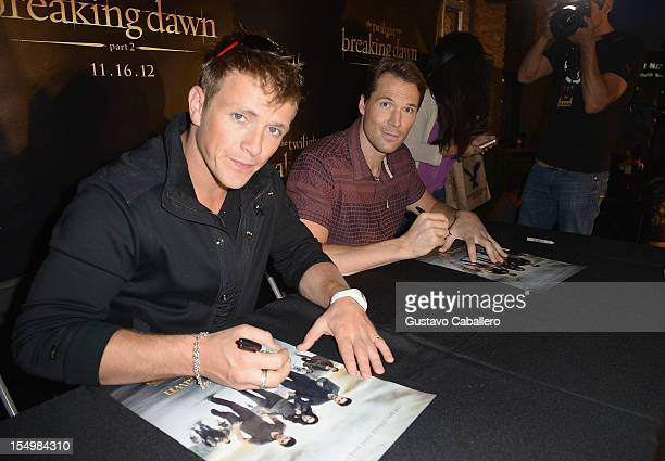 Actors Charlie Bewley and Daniel Cudmore attend The Twilight Saga Breaking Dawn Part 2 Miami Fan Event at the Shops At Sunset Place on October 29...