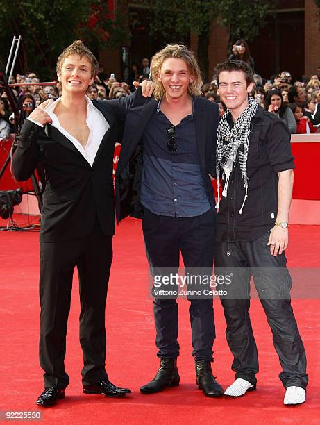 Actors Charlie Bewley Jamie Campbell Bower and Cameron Bright attend the 'The Twilight Saga New Moon' Premiere during Day 8 of the 4th International...