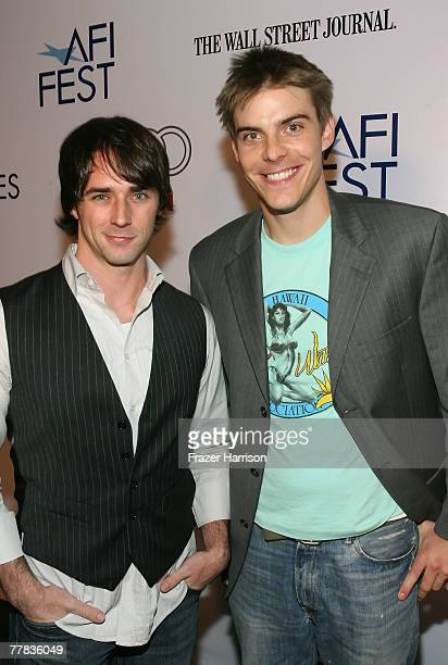 Actors Charlie Capen and Hunter Huston of the film Psycho Hillbilly Cabin Massacre attend the AFI FEST 2007 presented by Audi held at the Rooftop...
