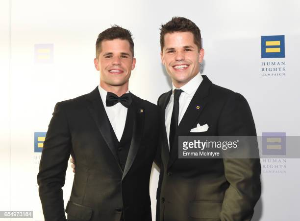 Actors Charlie Carver and Max Carver at The Human Rights Campaign 2017 Los Angeles Gala Dinner at JW Marriott Los Angeles at LA LIVE on March 18 2017...
