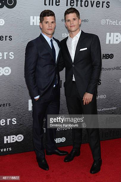 Actors Charlie Carver and Max Carver attend 'The Leftovers' premiere at NYU Skirball Center on June 23 2014 in New York City