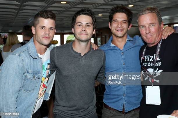 Actors Charlie Carver Dylan O'Brien Tyler Posey and Linden Ashby at the #IMDboat At San Diego ComicCon 2017 on the IMDb Yacht on July 20 2017 in San...