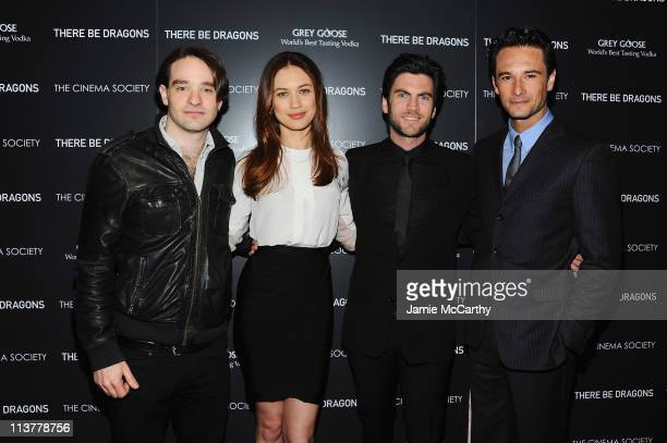 Actors Charlie Cox Olga Kurylenko Wes Bentley and Rodrigo Santoro attend The Cinema Society Grey Goose screening of There Be Dragons at the Tribeca...