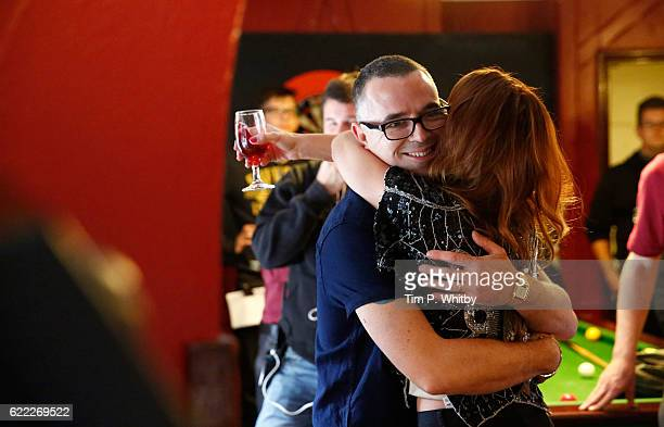 Actors Charlie Creed Miles and Kierston Faye Wareing on the set of 100 Streets in Battersea on September 1 2014 in London England