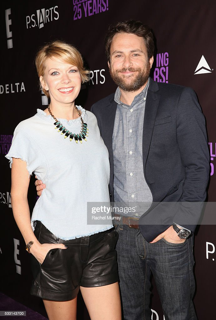 Actors Charlie Day (L) and Mary Elizabeth Ellis attend the pARTy! - celebrating 25 years of P.S. ARTS on May 20, 2016 in Los Angeles, California.