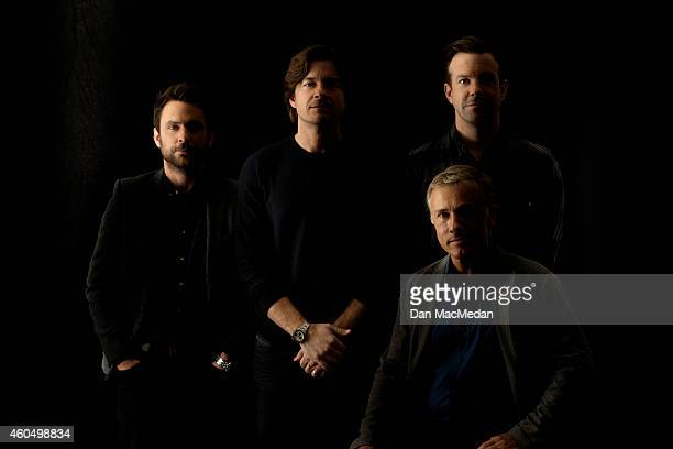 Actors Charlie Day Jason Bateman Christoph Waltz and Jason Sudeikis are photographed for USA Today on November 10 2014 in Beverly Hills California