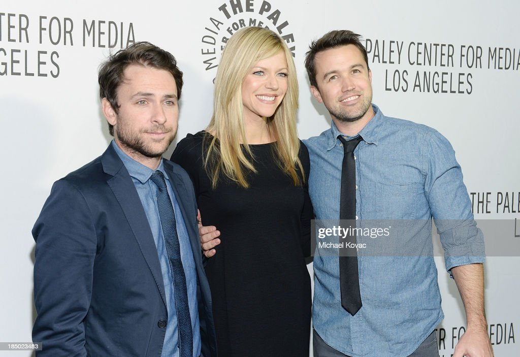 Actors Charlie Day, Kaitlin Olson and Rob McElhenney arrive at The Paley Center for Media's 2013 benefit gala honoring FX Networks with the Paley Prize for Innovation & Excellence at Fox Studio Lot on October 16, 2013 in Los Angeles, California.