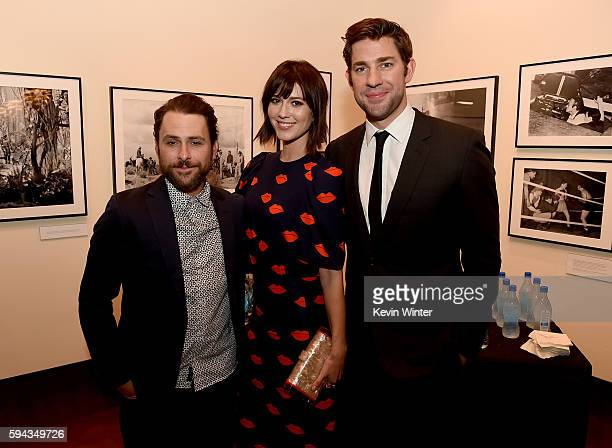"""Actors Charlie Day, Mary Elizabeth Winstead and director/actor John Krasinski attend the premiere of Sony Pictures Classics' """"The Hollars"""" at Linwood..."""