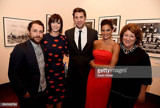 Actors Charlie Day, Mary Elizabeth Winstead, director/actor John Krasinski, actors Ashley Dyke and Margo Martindale attend the premiere of Sony...