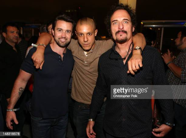 Actors Charlie Day Theo Rossi and Kim Coates attend the Maxim FX and Fox Home Entertainment ComicCon Party at Andaz on July 13 2012 in San Diego...