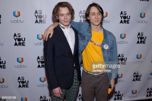 """Actors Charlie Heaton and Owen Campbell attend """"As You Are"""" New York Premiere at Village East Cinema on February 24, 2017 in New York City."""