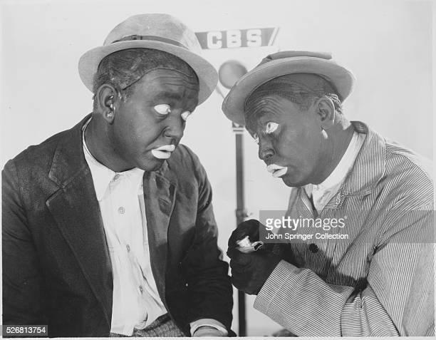 Actors Charlie Mack and George Moran in Blackface