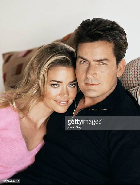 Actors Charlie Sheen and Denise Richards are photographed for Redbook Magazine in 2004 in Los Angeles California PUBLISHED IMAGE