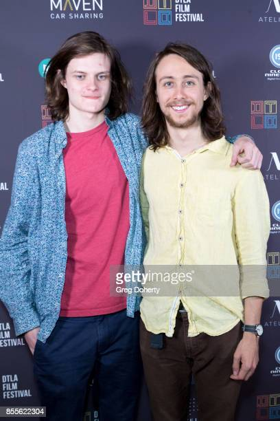 Actors Charlie Tahan and Owen Campbell arrive for the DTLA Film Festival Premiere Of The Orchard's Super Dark Times at Regal 14 at LA Live Downtown...