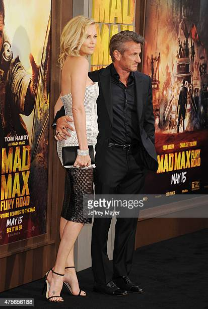 Actors Charlize Theron and Sean Penn arrive at the Mad Max Fury Road Los Angeles Premiere at TCL Chinese Theatre IMAX on May 7 2015 in Hollywood...