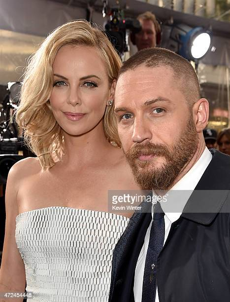 """Actors Charlize Theron and Tom Hardy attend the premiere of Warner Bros. Pictures' """"Mad Max: Fury Road"""" at TCL Chinese Theatre on May 7, 2015 in..."""