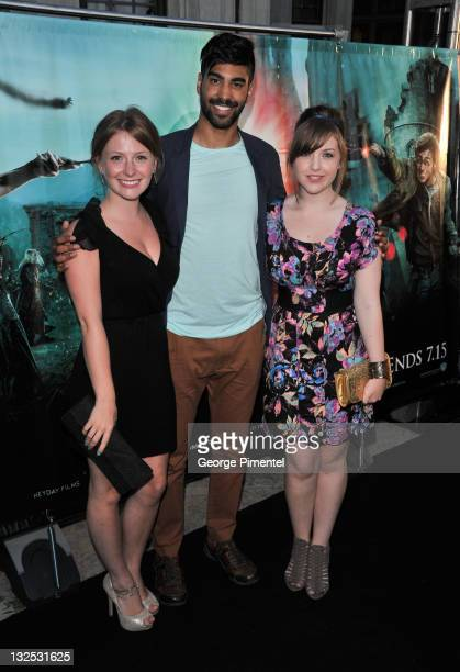 Actors Charlotte Arnold Raymond Ablack and Aislinn Paul attend the AfterParty for the Canadian Premiere of ''Harry Potter and The Deathly Hallow Part...