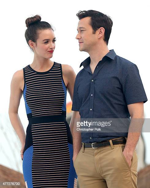 """Actors Charlotte Le Bon and Joseph Gordon-Levitt attend the """"The Walk"""" photo call during Summer Of Sony Pictures Entertainment 2015 at The..."""