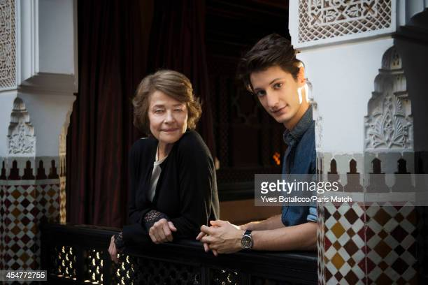 Actors Charlotte Rampling and Perre Ninney are photographed for Paris Match on November 29 2013 in Marrakech Morocco