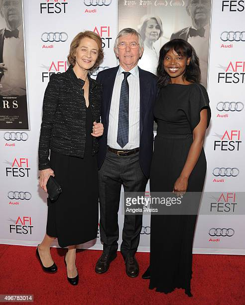 Actors Charlotte Rampling, Tom Courtenay and AFI FEST Director Jacqueline Lyanga arrive at the AFI FEST 2015 Presented by Audi Tribute to Charlotte...